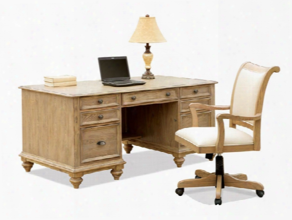 Executive Desk With Chair By Riverside