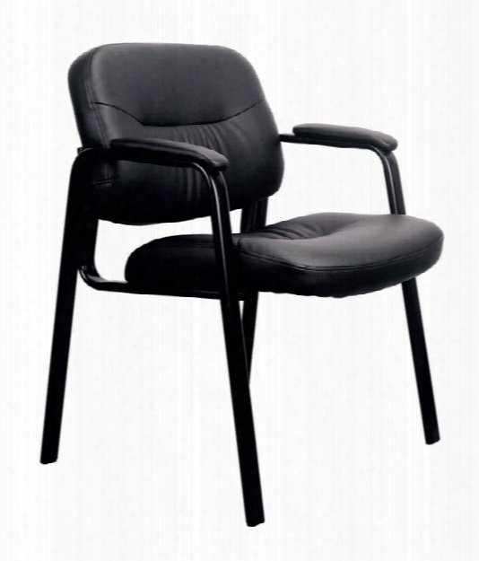 Executive Leather Side Chair By Essentials