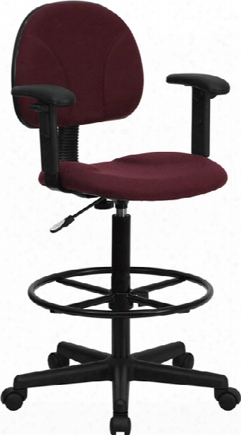 Fabric Drafting Chair, Adjustable Arms By Innovations Office Furniture