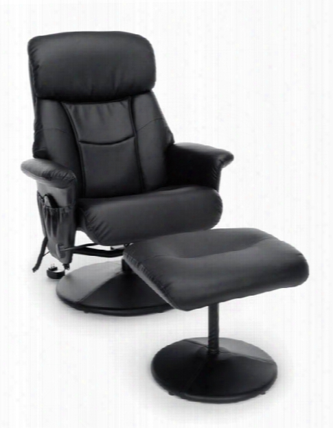 Heated Shiatsu Massage Leather Recliner And Ottoman By Essentials