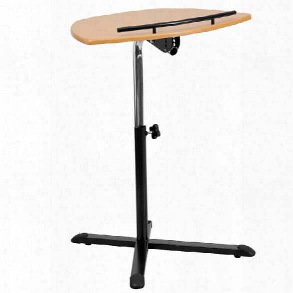 Height Adjustable Natural Laptop Computer Desk By Innovations Office Furniture