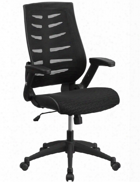 High-back Executive Swivel Chair With Flip-up Arms By Innovations Office Furniture