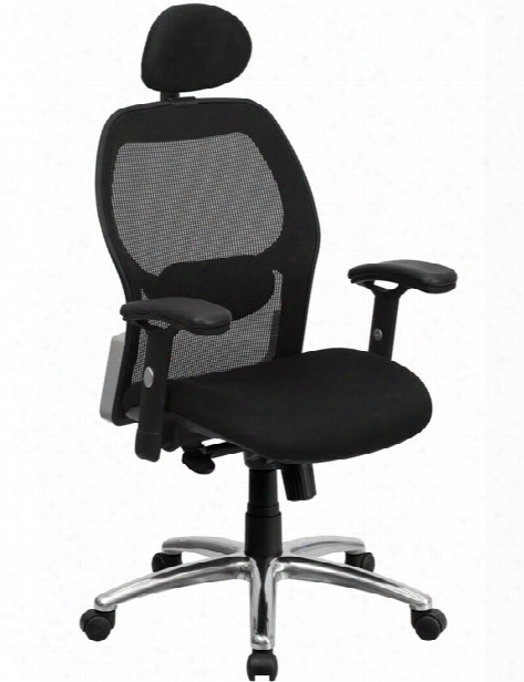 High-back Executive Swivel Chair With Knee-tilt Control And Adjustable Arms By Innovations Office Furniture