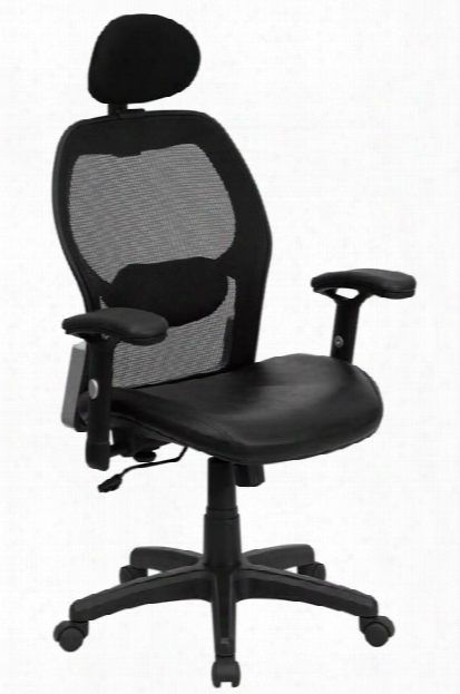 High-back Executive Swivel Chair With Leather Seat By Innovations Office Furniture