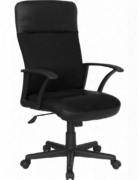 High-back Leather And Mesh Executive Swivel Chair With Arms By Innovations Office Furniture