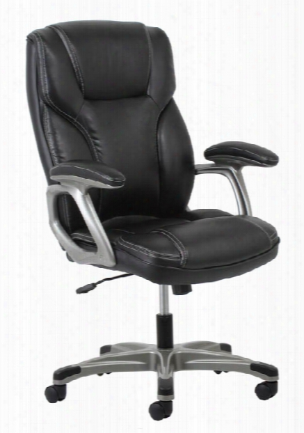 High Back Leather Chair By Essentials