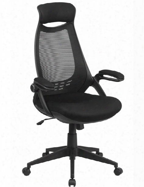 High-back Mesh Executive Swivel Chair With Filp-up Arms By Innovations Office Furniture