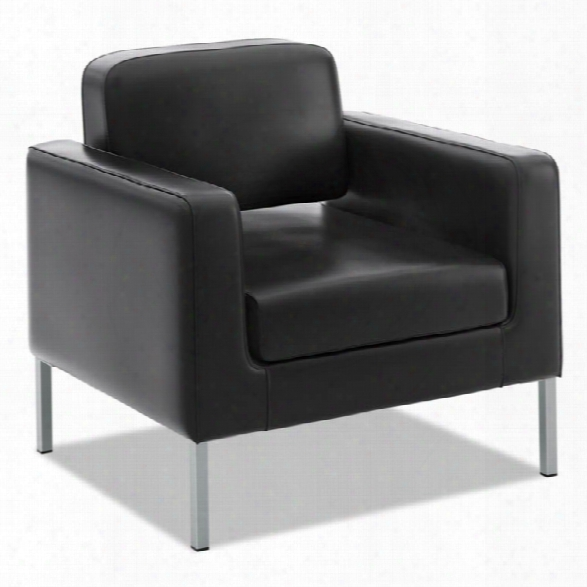 Leather Club Chair By Hon