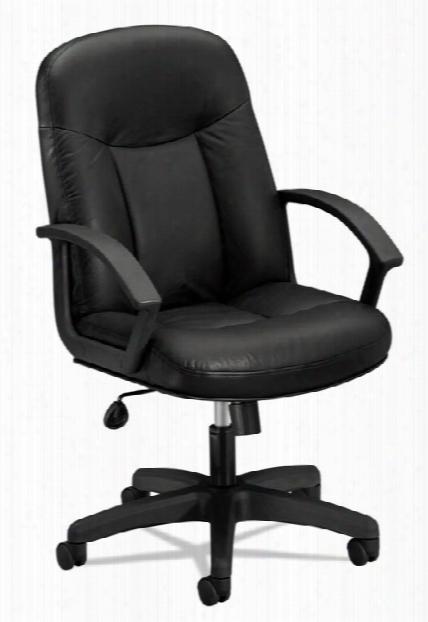Leather High-back Swivel/tilt Chair By Hon
