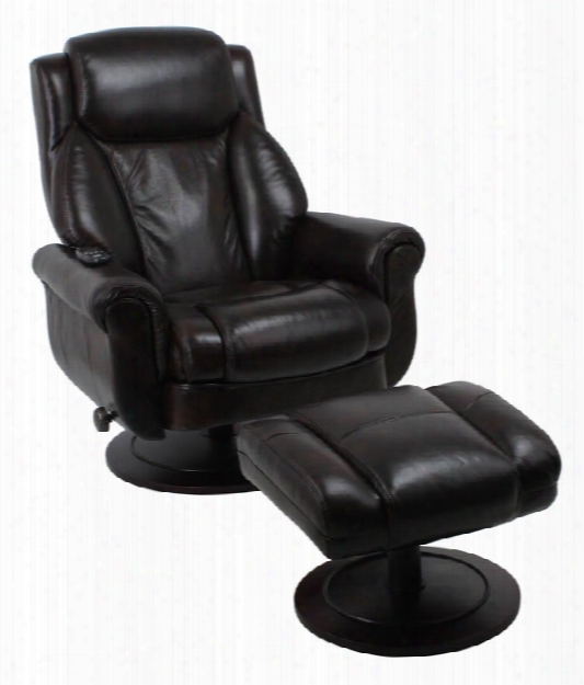 Leather Massage Recliner Chair With Ottoman By Solution Seating