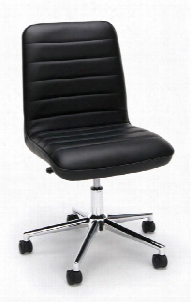 Leather Mid-back Chair By Essentials