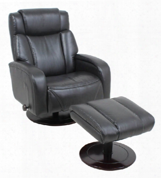 Leather Recliner Chair With Ottoman By Solution Seating