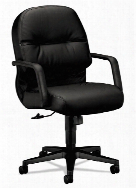 Managerial Leather Mid-back Swivel/tilt Chair By Hon