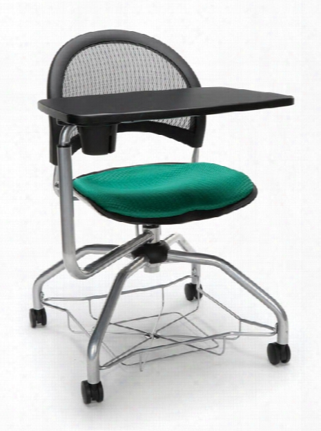 Mesh Back Fabric Chair With Tablet By Ofm