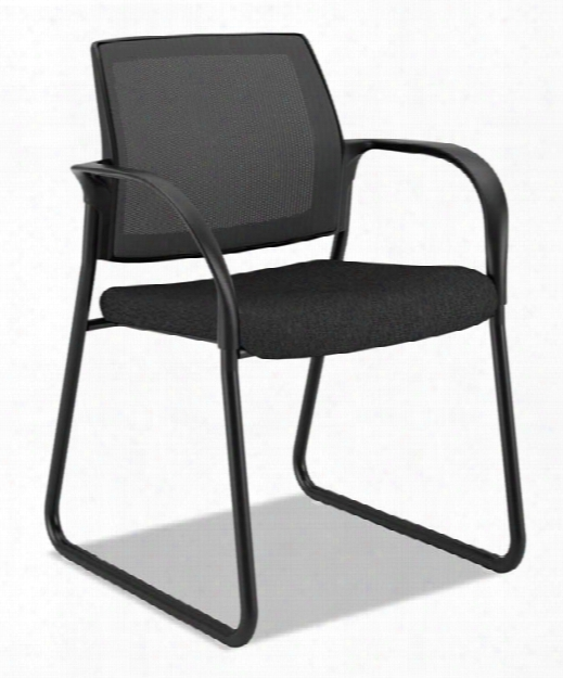 Mesh Back Guest Chair With Sled Base By Hon
