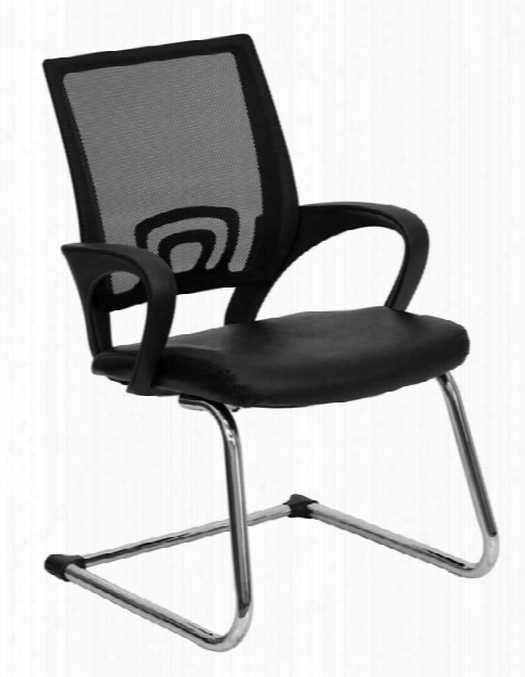 Mesh Back Leather Reception Chair By Innovations Office Furniture
