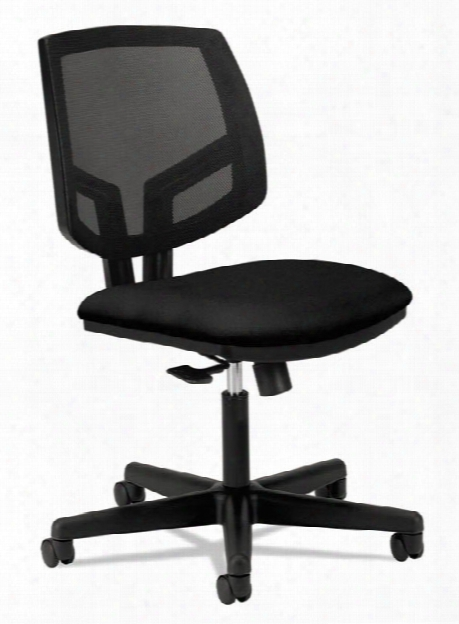 Mesh Back Leather Task Chair By Hon