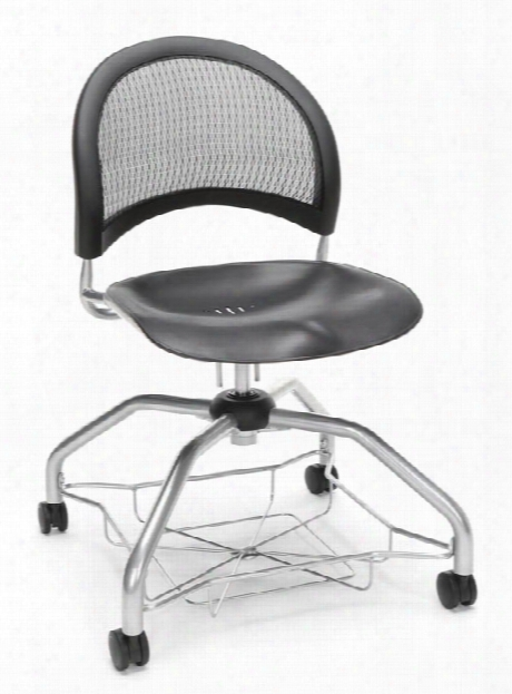 Mesh Back Pastic Chair By Ofm