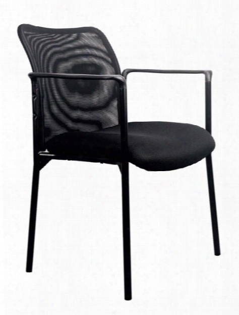 Mesh Back Side Chair With Arms By Essentials