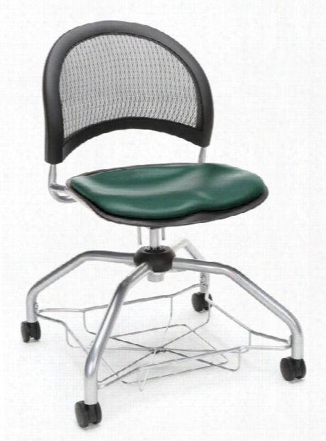 Mesh Back Vinyl Chair By Ofm