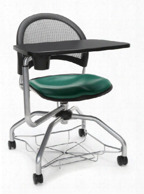 Mesh Back Vinyl Chair With Tablet By Ofm