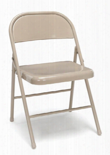 Metal Folding Chairs (set Of 4) By Essentials