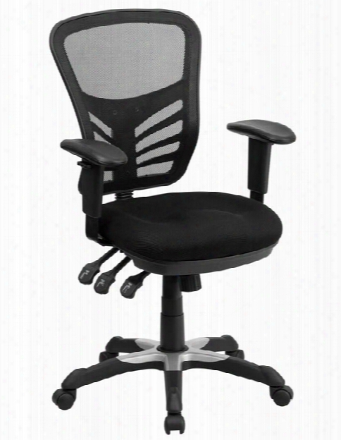 Mid-back Mesh Executive Swivel Chair With Arms By Innovations Office Furniture