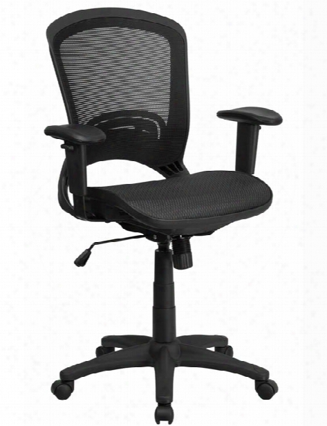 Mid-back Mesh Swivel Chair With Arms By Innovations Office Furniture