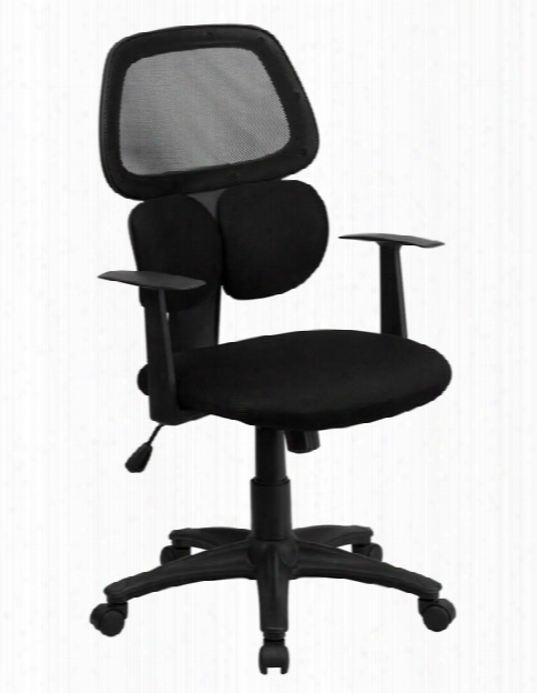 Mid-back Mesh Swivel Chair With Flexible Dual Lumbar Support And Arms By Innovations Office Furniture