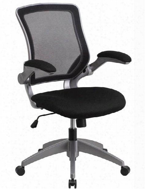 Mid-back Mesh Swivel Chair With Flip-up Arms By Innovations Office Furniture