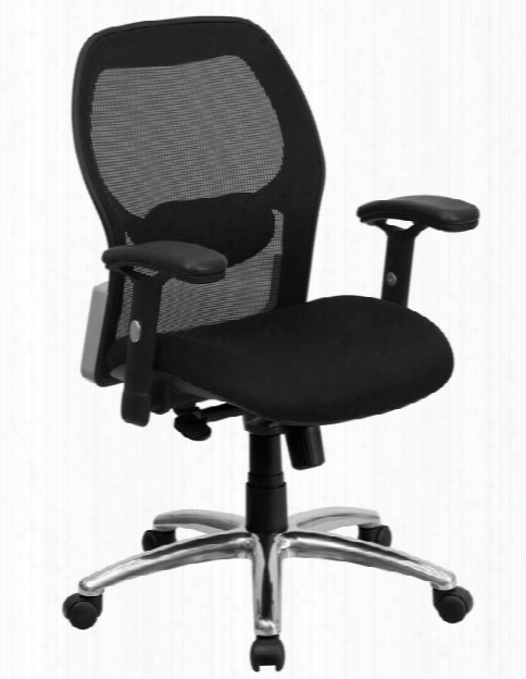 Mid-back Mesh Swivel Chair With Knee Tilt Control And Arms By Innovations Office Furniture