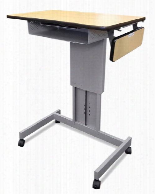 Mobile Focus Xt Adjustable Height Desk With Book Box & Side Shelf By Marvel