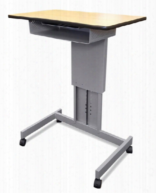 Mobile Focus Xt Adjustable Height Desk With Book Box By Marvel
