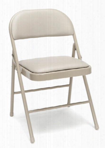 Padded Metal Folding Chair (set Of 4) By Essentials