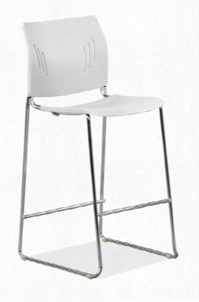 Polyurethane Stool With Footrest & Chrome Base By Office Source