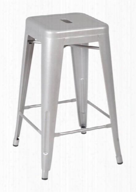 Rivet Stack Stool (4 Pack)- Gray By Regency Furniture