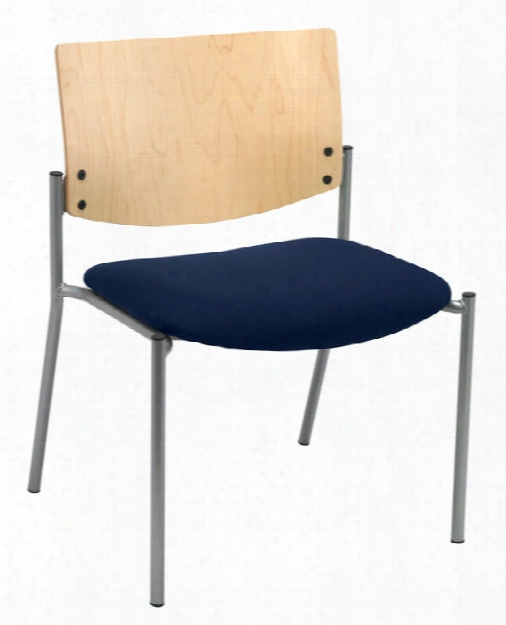Side / Guest Chair, Armless With Wood Back, Ibg / Tall By Kfi Seating