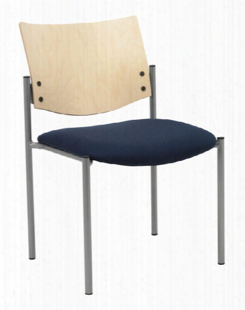 Side / Guest Chair, Armless With Wood Back By Kfi Seating