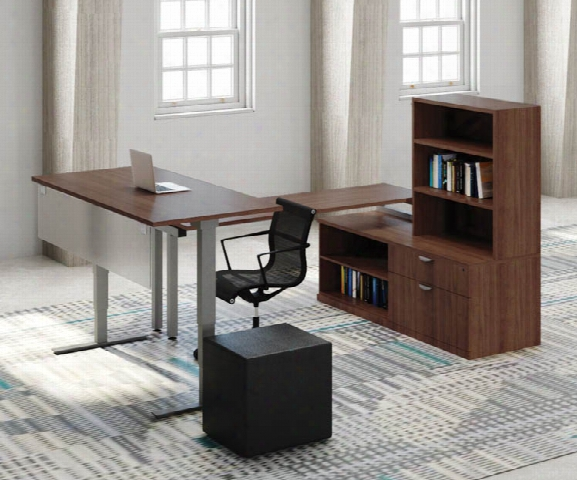 Sit To Stand Desk With Storage Workstation By Office Source
