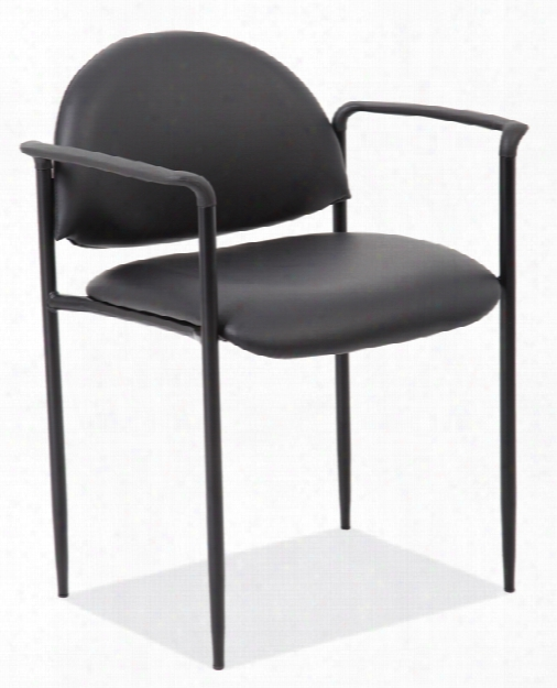 Stacking Side Chair With Arms & Black Frame By Office Source