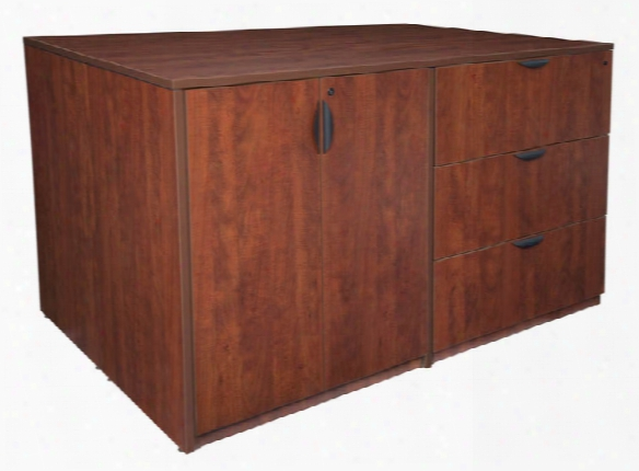 Stand Up 2 Desk/ Storage Cabinet/ Lateral File Quad By Regency Furniture