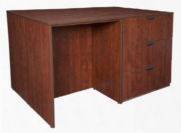 Stand Up 2 Lateral File/ 2 Desk Quad By Regency Furniture