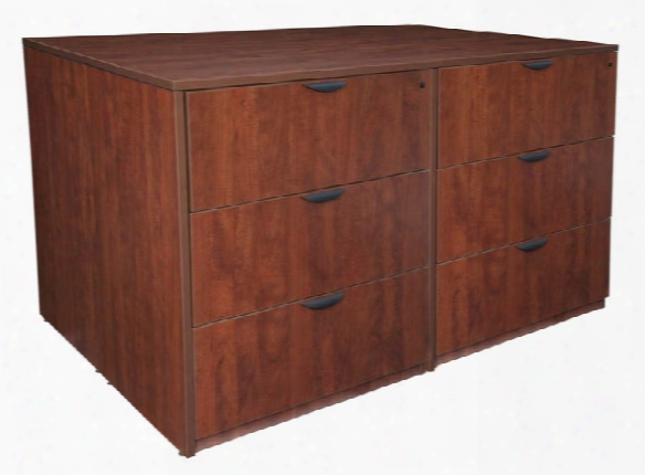 Stand Up 2 Lateral File/ Storage Cabinet/ Desk Quad By Regency Furniture