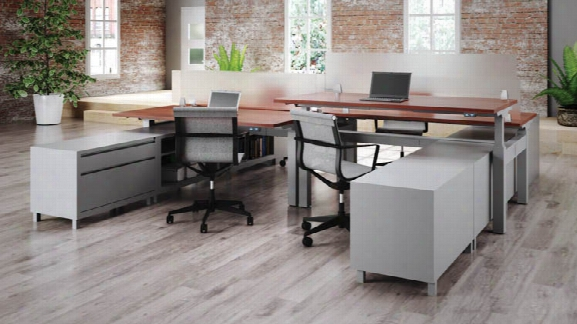 Standup Standing Desk Workstation For 4 By Office Source