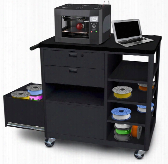 Steel 3d Printer Cart With Two Storage Drawers By Marvel