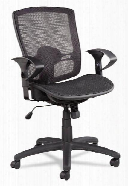 Suspension Mesh Mid-back Synchro Tilt Chair By Alera