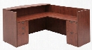 Box Box File/ File File Pedestal Reception Desk by Regency Furniture