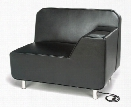 Left Arm Lounge Chair with Electrical by OFM