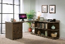 Peninsula Desk with Return and Mobile File Cabinet by Riverside