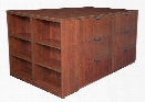Stand Up Lateral File Quad with Bookcase End by Regency Furniture